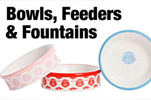 Cat bowls, cat fountains and feeders