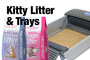 Kitty litter and trays for cats and kittens
