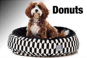 Dog beds plush donuts