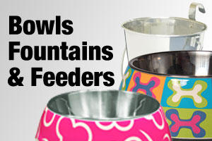 Dog bowls, fountains & feeders