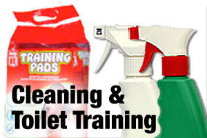 Toilet training and cleaning products for dogs