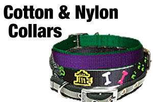 cotton and nylon dog collars