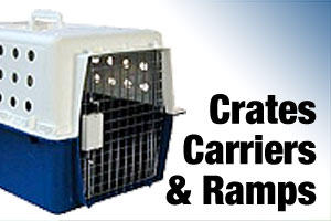 Dog crates, carriers and ramps