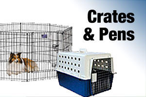 Dog cages, crates and pens