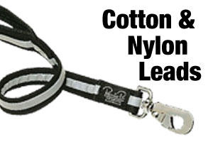 Cotton and nylon dog leads
