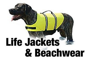 Beachwear and life jackets for dogs