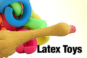 Latex toys for dogs and puppies