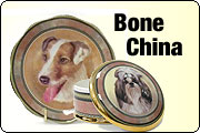 Plates bowls and bone china for pet lovers