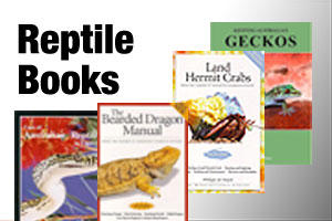 Books on retiles, lizards and snakes