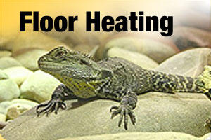 Heat pads, cords and floor heating for reptile cages