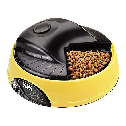 cat food large dispenser with programmable portion small feeder meal for pet container voice dog recording feeders animal station control timer p automatic electronic