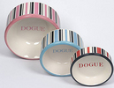 DOGUE Candy Stripe Cat Bowls