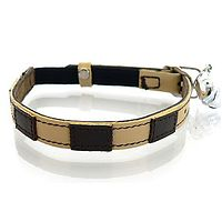 Bentley Cream Leather Cat Collar