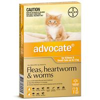 Advocate - Kittens & Small Cats to 4kg - Orange 3pk