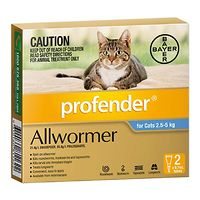 Profender Allwormer for Cats - 2.5-5kg - Blue 2pk