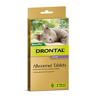 Drontal Allwormer Cats & Kittens to 4kg - 2 Tabs