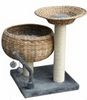 Bermuda Weave Cat Pole with Basket Bed