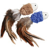 Kong Naturals Crinkle Fish with Feathers