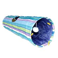 Crinkle Cat Tunnel Rainbow Striped