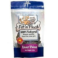 Fit n Flash Liver Thins Dog Treats