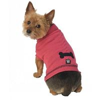 Cali's Cable Knit Dog Jumper Raspberry