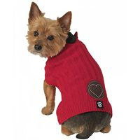 Cupid's Embossed Heart Dog Jumper