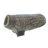 Huskimo Cable Knit Dog Jumper Marle Grey