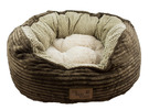 It's Bed Time Plush Oval Dog Bed
