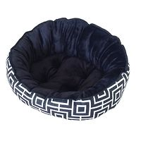 Barkley & Bella Verona Geo Black Pet Bed