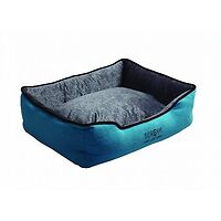 Scream Rectangle Bolster Bed Blue
