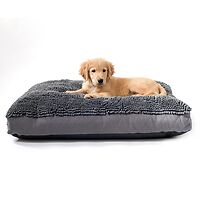 Dirty Dog Rectangle Dog Bed Grey