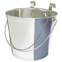 Flat sided stainless Steel Buckets