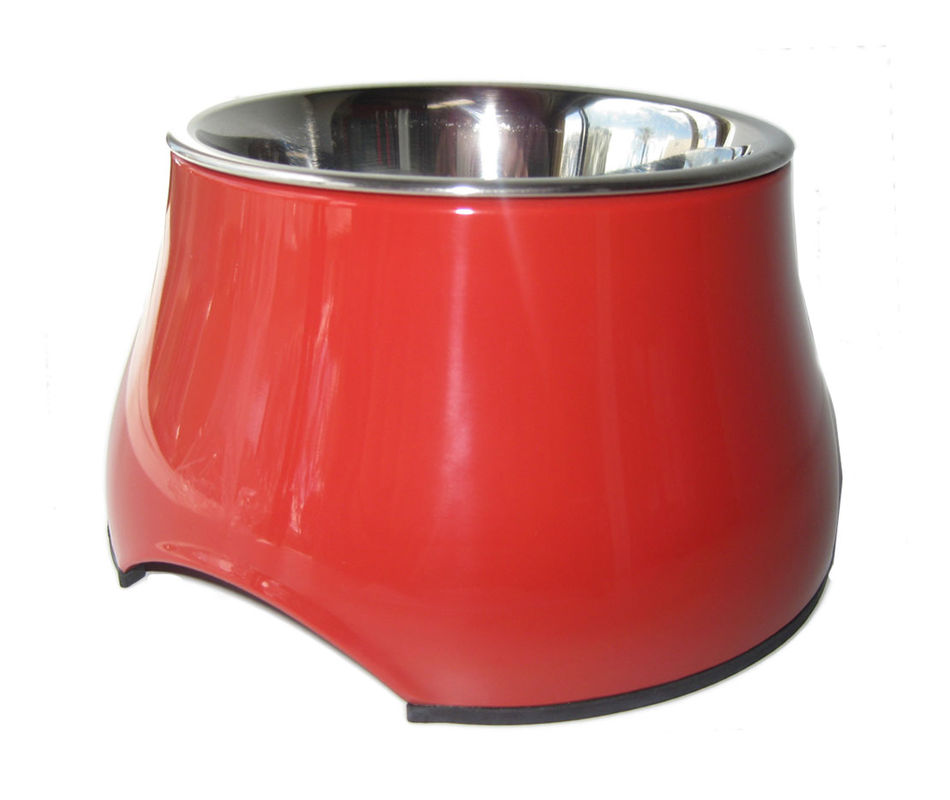 Dogit 2 In 1 Elevated Stainless Steel Dog Bowl Red