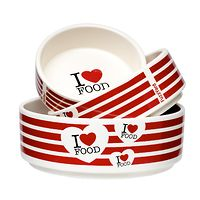 FuzzYard Ceramic Dog Bowl - I Love Food