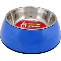 Dogit 2 in 1 Durable Dog Bowl Blue