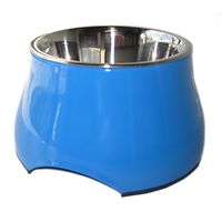 Dogit 2 in 1 Elevated Dog Bowl 300mL Blue