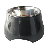 Dogit 2 in 1 Elevated Dog Bowl 300mL Black