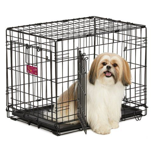 Life stages double door dog crate 24quot dog crate pens for High end dog crates