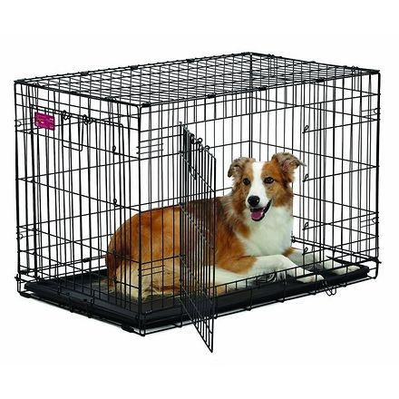 Life stages double door dog crate 36quot dog crate pens for High end dog crates