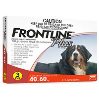 Frontline Plus - X-Large Dog 40-60kg - Red 3pk