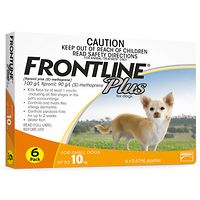 Frontline Plus - Small Dog to 10kg - Orange 6pk