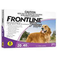 Frontline Plus - Large Dog 20-40kg - Purple 6pk