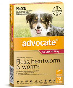 Advocate - Dogs 10-25 kgs - 3 month pack