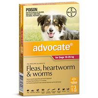 Advocate - Dogs 10-25 kgs - Red 3pk