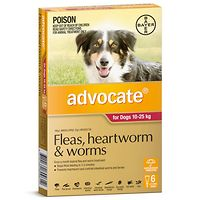 Advocate - Dogs 10-25 kgs - Red 6pk