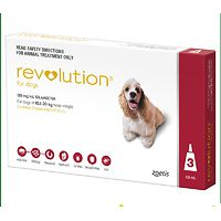 Revolution for Dogs 10.1-20kg - Red 3pk