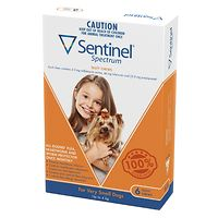Sentinel Spectrum Chews Very Small Dogs - Orange 6pk