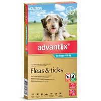 Advantix for Medium Dogs 4-10kgs Aqua