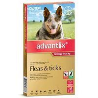 Advantix for Large Dogs 10-25kgs Red