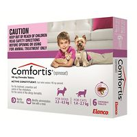 Comfortis X-Small Dogs 2.3-4.5kg - Pink 6pk